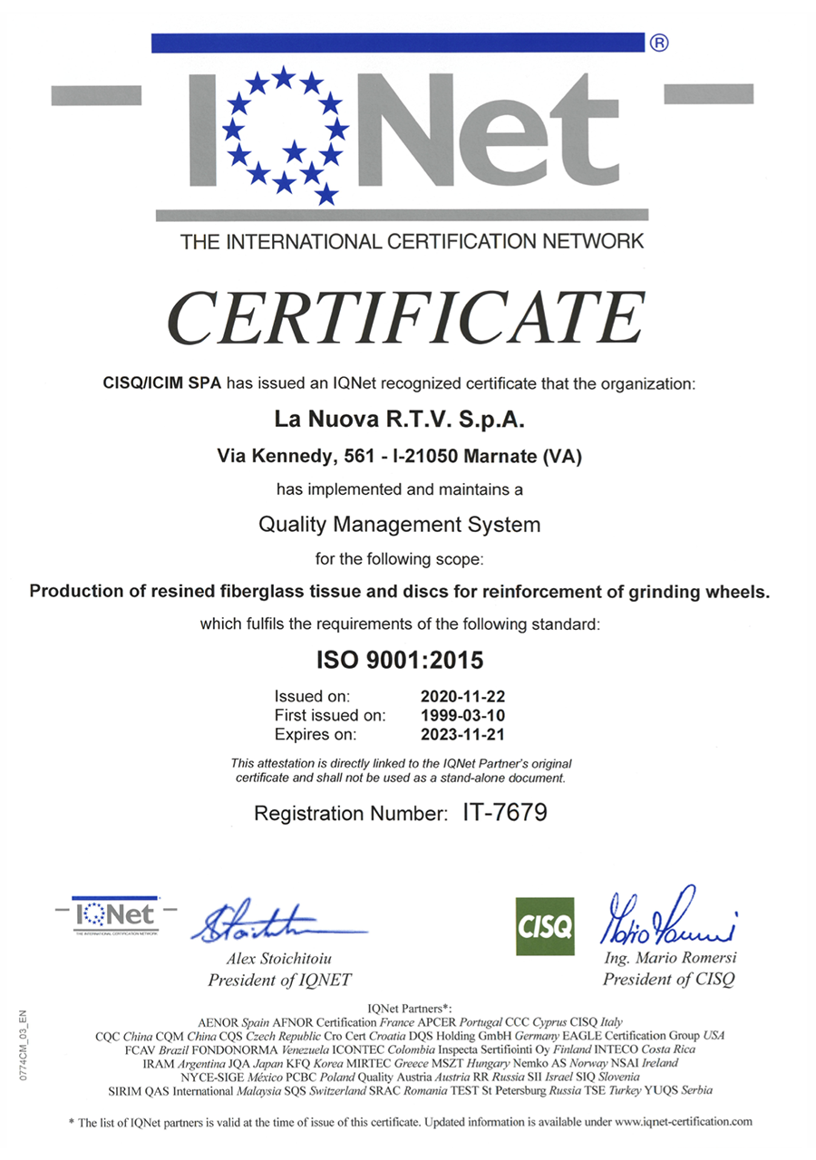 LaNuovaRTF-Certificato-IQ-NET
