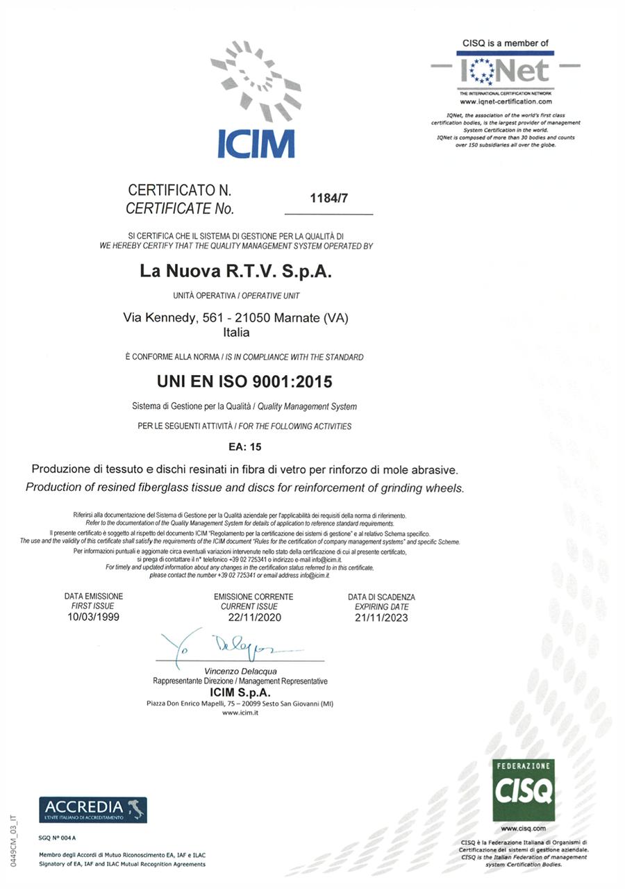 LaNuovaRTV-Certificato-ICIM
